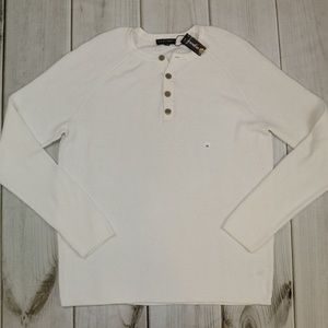 Express Sweaters - NWT $54 Express Ivory Henley Sweater XL